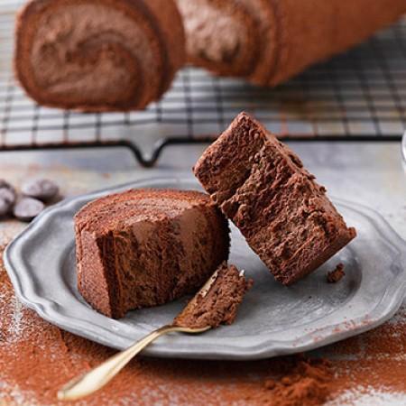 小山甜點市集-招牌純巧克力瑞士捲-1