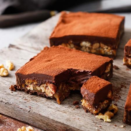 小山甜點市集-焦糖堅果生巧克力派-1