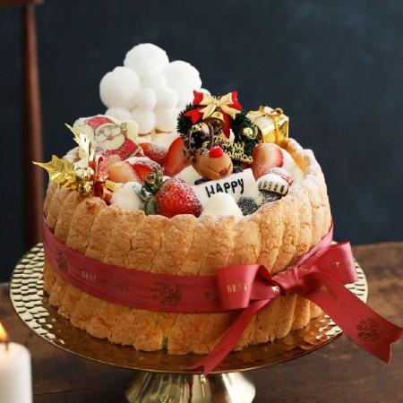 【小山甜點市集】 7吋耶誕草莓夏洛特